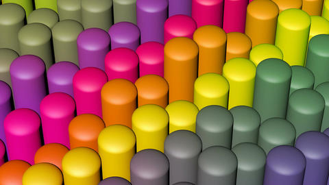 Colorful Capsule Stick stock footage
