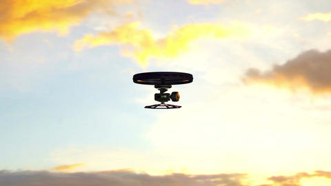 4K High Tech Wide Angle Film Camera Drone 4 stock footage