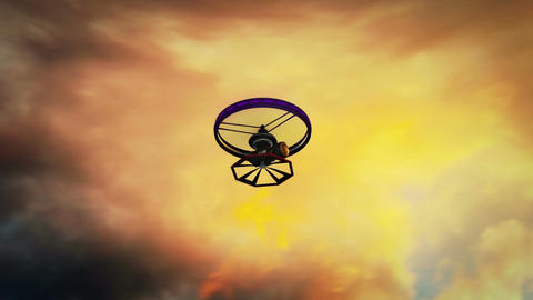 High Tech Wide Angle Film Camera Drone In Action 2 stock footage