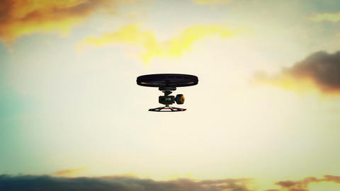 High Tech Wide Angle Film Camera Drone In Action 5 stock footage
