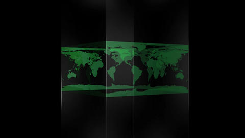 Transparent block showing world map Footage