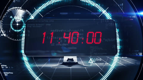 Countdown To 2015 On Computer Screen In Tech Style stock footage