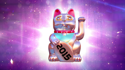 Beckoning Neko Cat 2015 year Animation