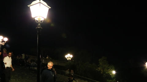 Pan Shot Of Lampposts, Florence, Tuscany, Italy stock footage