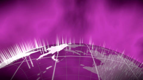 World global news background backdrop planet Earth Animation