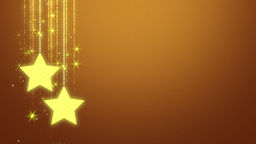 Gold Christmas Stars On Gold Gradient stock footage