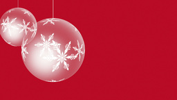 Spinning Christmas Ornaments stock footage