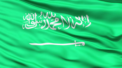 Flag Of Saudi Arabia stock footage
