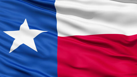 The State Of Texas Flag stock footage