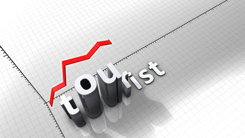 Growing Chart Graphic Animation, Tourist stock footage