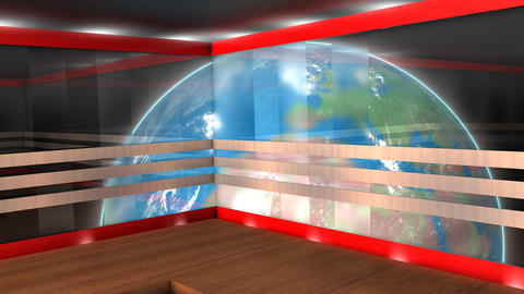 Virtual broadcasting set Animation
