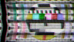 TV Test Card Noise stock footage