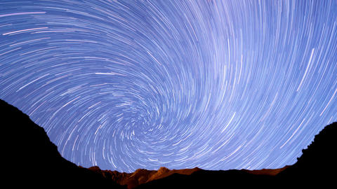 Milky Way In The Mountains. Spiral. Time Lapse stock footage