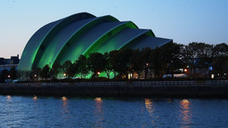 Clyde Auditorium In Glasgow, Scotland stock footage