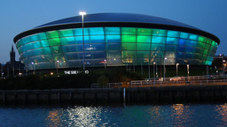 The SSE Hydro Building in Glasgow, Scotland Footage