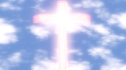 Cross Glowing Sky Clouds stock footage