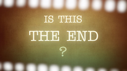 Film Vintage Is This The End Strip stock footage