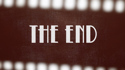 Film vintage The End 20s strip Footage
