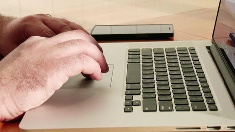 Using Laptop And Mobile Phone 1 stock footage