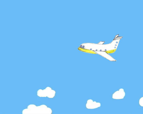 airplane child animation Animation