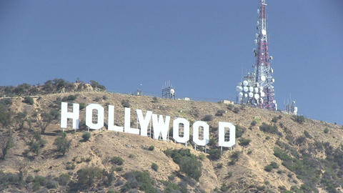 The iconic Hollywood Sign Footage