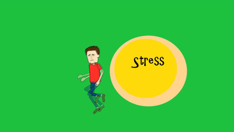 """Running From Stress"", Male Character: Looping + M stock footage"