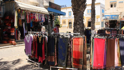 Oriental Bazaar In Tunisia stock footage