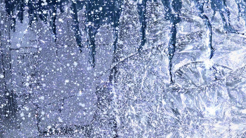 Winter background window frost - HD Animation