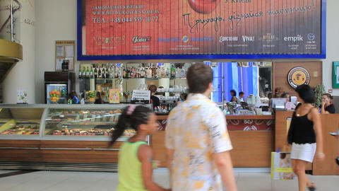 Snack Bar stock footage