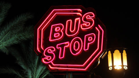 Bus Stop stock footage