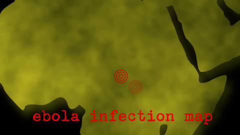 Africa Ebola Infection Map Zoom stock footage