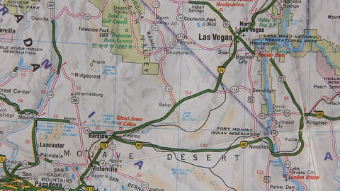 Topographical map of the USA. Nevada Footage