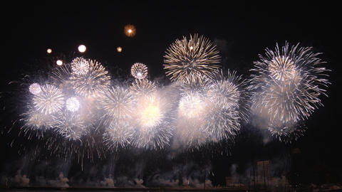 2160p (12bit RGB4:4:4) Fireworks Japan stock footage