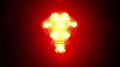 Flashing red signal lamp for bicycle Footage