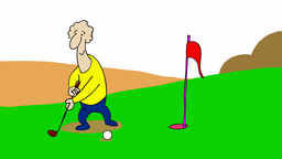 GOLFER stock footage