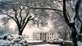 White House Winter stock footage