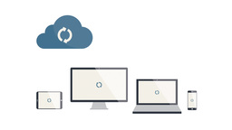 Cloud Syncing - Flat Design Animation