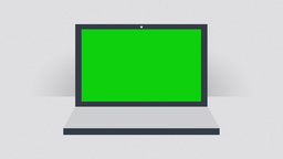 Notebook with Green Screen - Flat Design Animation