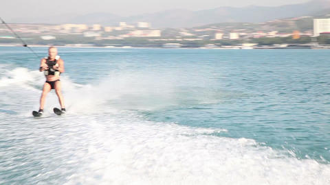 Water Skiing 9310 stock footage