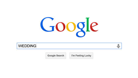 Google Is Most Popular Search Engine In The World. Search For WEDDING stock footage