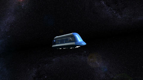 Space Passenger Liner Animation