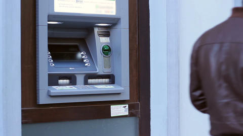 ATM Ready for Transactions Footage