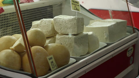 Bellows Cheese For Sale stock footage