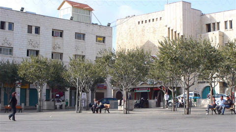 BETHLEHEM, PALESTINE -November, 03: Central Square stock footage