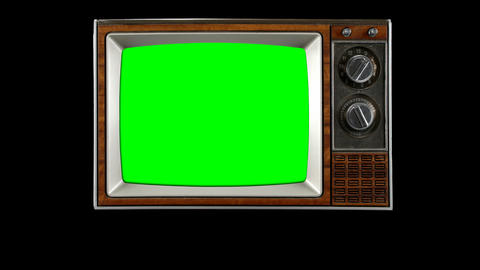 old tv opening television vintage intro green screen snow show Animation