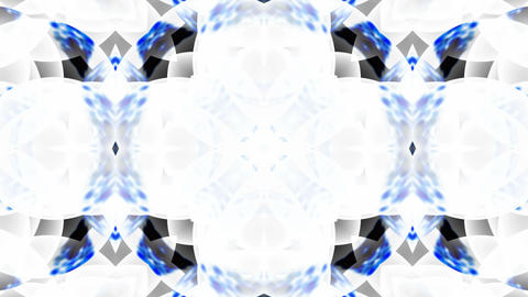 Blue Glass Flower Lotus Fancy Pattern.Buddhism Mandala Flower,kaleidoscope,oriental Religion Texture stock footage