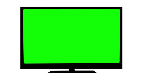 TV with Green screen Animation