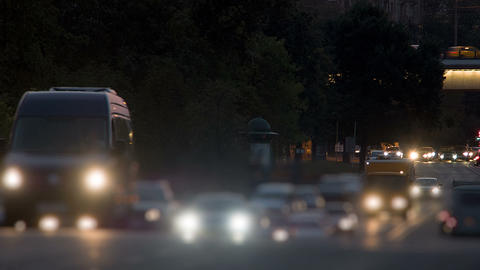 The Flow Of Cars On The Road, Timelapse stock footage