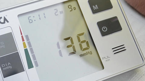 Blood Pressure Electronic Device stock footage
