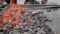 Coal In The Fire Forge stock footage